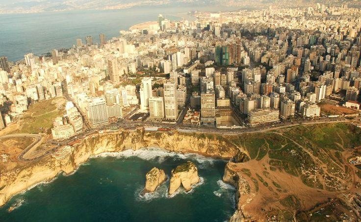 Vista aérea de El Líbano.