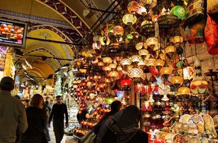 lámparas en gran bazar estambul
