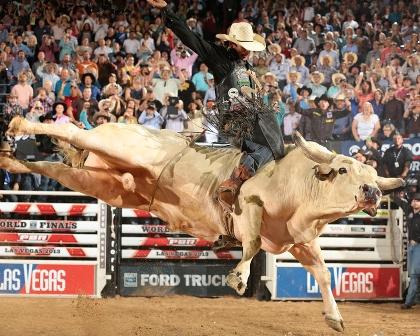 monta de toro en rodeo