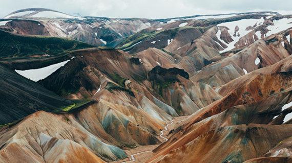 Montañas en el trekking a Islandia